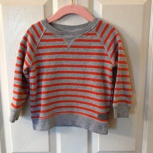 Gap Gray & Orange Striped Sweatshirt 🍂